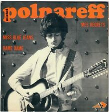 MICHEL POLNAREFF Miss blue Jeans Dame Mes regrets 1967 EP disc AZ Yé-Yé French