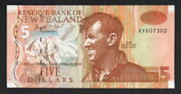 NEW ZEALAND P-177a.  5 Dollars. Brash Type-111. 88gsm paper..  UNC