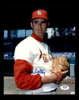 Steve Carlton PSA DNA Coa Hand Signed 8x10 Cardinals Photo Autograph