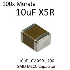 100pcs 10uF Murata SMD Capacitor 1206 10V X5R On Tape