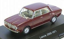 wonderful modelcar Lancia 2000 Saloon 1971 in darkred