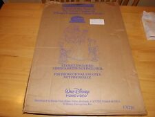 BEAUTY AND THE BEAST THE ENCHANTED CHRISTMAS -DISNEY-OLD MOVIE STANDEE-ORIG BOX