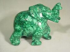 BUTW Hand Carved in Zaire Malachite elephant carving lapidary 2308C