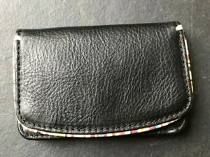PAUL SMITH LEATHER  CARD HOLDER Multistripe Edging Magnetic close