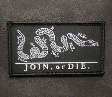 JOIN OR DIE NSWDG NAVY SEAL DEVGRU ST6 DARK OP SWAT VELCRO® BRAND FASTENER PATCH