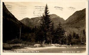 Franconia Notch, White Mountains NH RPPC 1933 Vintage Postcard PBA