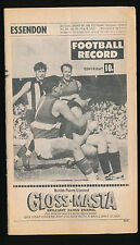 1969 VFL Football Record Essendon v Fitzroy August 9 Bombers Lions
