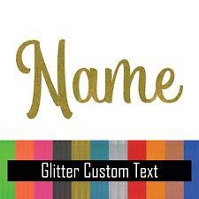 Glitter Custom Text Name Vinyl Decal Sticker for Yeti Tumbler iPhone Samsung