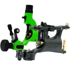 Assort 2 Black&Green Whip Dragonfly Rotary Tattoo Machine Motor Gun Liner Shader