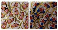 16 x Personalised The Wiggles Or Emma  Chocolate Birthday Thanku Gold Coins