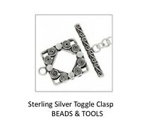 925 Sterling Silver Toggle Clasp - Sterling Silver Clasp Square Scroll Toggle