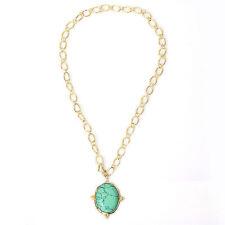 Halsketten & Anhänger aus Gelbgold mit Türkis Edelsteine