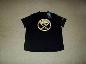 NWT adidas Creator Tee Buffalo Sabres Black 2XL Authentic NHL Apparel Shirt