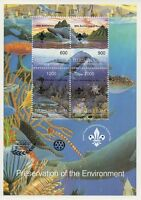 90th ANNIVERSARY OF SCOUTING PRESERVATION OF THE ENVIRONMENT MNH STAMP SHEETLET