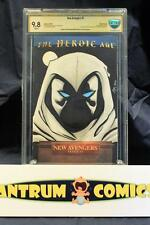 New Avengers #1 Cbcs 9.8 - original Moon Knight art sketch by Greg Kirkpatrick