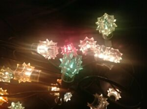 VINTAGE Christmas Tree Lights ~ Star ~ Rare beautiful ~ 20 lights all working