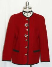 BOILED WOOL Jacket Coat Women AUSTRIA Winter WARM & LINED Walk Car RED 38 10 M