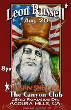 Leon Russell, Susan Sheller Poster by Cadillac Johnson