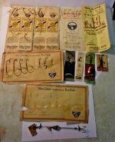 Vintage ABBEY & IMBRIE Fishing Tackle HOOKS ON CARDS and SPINNERS 11pcs