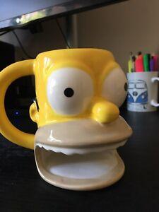 Homer Simpson The Simpsons 3D Coffee Cookie Tea Mug Cup Matt Groening 2007