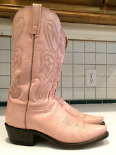 Lucchese 1883 Ladies Pink Goat Skin Leather Western N4531 Boots 7.5 B (Lot C)