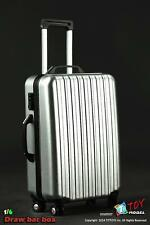"""T Toy Model 1:6 Hardshell Suitcase SILVER for 12"""" action figures TTOY-SF007"""