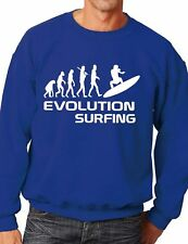 Evolution Of Surfing/Surfer Funny Sweatshirt/Jumper Unisex Birthday Gift  S-XXL