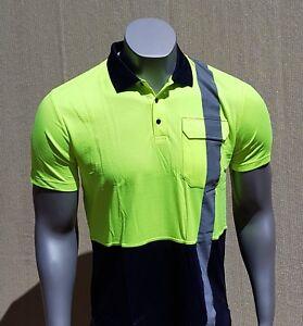 BAMBOO WORK SHIRT - Men - Short Sleeve - Reflector - Yellow - Hi Vis Safety Wear