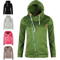 Womens Hoodies Sweatshirts Zipper Jacket Ladies Hooded Jumper Parka Coat Outwear
