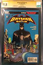Grant Morrison signed CGC 9.8 Comic Batman an Robin #2 not CBCS