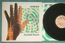 Genesis Invisible Touch 1986 NM Lyric sleeve Embossed cover