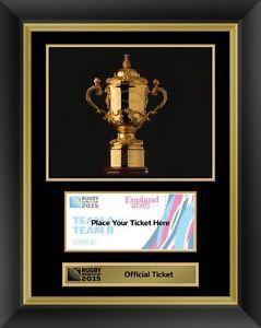 Rugby World Cup 2015 Official Webb Ellis Trophy Display Photo Frame