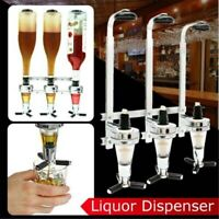 Wall Mounted Dispenser Drinks Wine 2/3/4 Bottle Stand Holder^