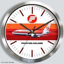 FRONTIER AIRLINES BOEING 737 WALL CLOCK METAL 1970s 80s