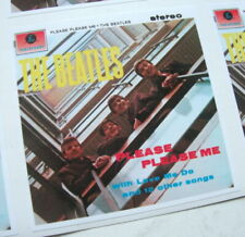 THE BEATLES PLEASE PLEASE ME STEREO ALBUM COVER  DECAL VINYL STICKER 100MM 4""