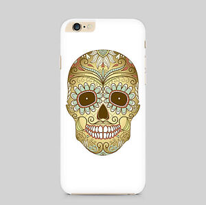Gold Painted Skull Emblem Phone Case Cover