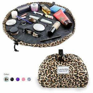 """Lay-n-Go COSMO Deluxe (22"""") Travel Drawstring Cosmetic Makeup Bag, Easy Open OEM"""