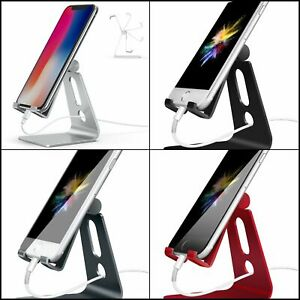 Adjustable Cell Phone Stand Holder Compatible with iPhone Android Smartphone.