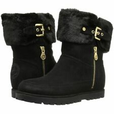 Guess FYORI  Shearling Cuff Bootie Boots BLACK  Size 8M BRAND NEW!
