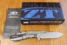 KAI Zero Tolerance ZT 0562 Hinderer Slicer Folding Knife ELMAX Titanium PRIORITY
