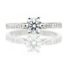 9ct White Gold Engagement Ring Created Diamond Ring Shoulder set Designer Brand