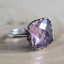 TURKISH HANDMADE STERLING SILVER 925K AND BRONZ QUARTZ RING SIZE 8.5 #QY2