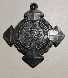 1869 Uruguay Medal Paraguay War Guerra Triple Alianza military Brazil Argentina