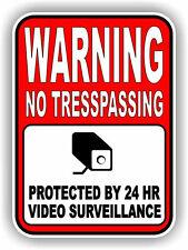 Warning 24 Hour Surveillance Security Window Door Vinyl Decal Sticker camera