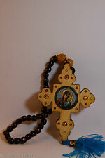 Lovely Car Amulet Wood Cross With Pray Bids Protect When You Are Driving