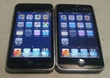 Lot of 2 Apple iPod Touch 2nd Gen A1288 8GB Black - PURPLE LINES ON LCD