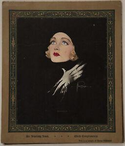 Rare 1935 Rolf Armstrong Osborne Co. Pin-Up Art Blotting Book Constance Bennett