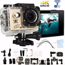 "Pro Cam WiFi 2"" 4K 16MP Sport Action Camera Ultra HD Videocamera Subacquea 30M"