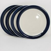Vintage Today's Home Dinner Plates  Dark Blue Made in China set of 4