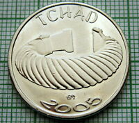 CHAD TCHAD 2005 1 AFRICA - 1500 CFA, AFRICAN PRIMITIVE MONEY SERIES, OBSOLETE